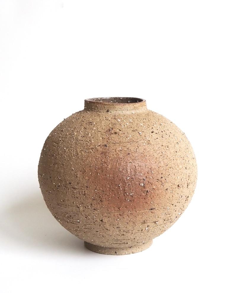 vase boule brique